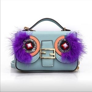 Monster Handbag in baby blue